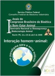 Anais do I Congresso de Bioetica e Bem-Estar Animal - Unoesc