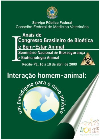 Anais do I Congresso de Bioetica e Bem-Estar Animal - Unoesc