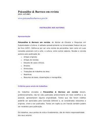 Psicanálise & Barroco em revista