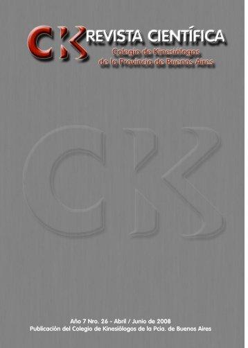 Revista Kinesiologos 26 - Colegio de Kinesiólogos de la Provincia ...