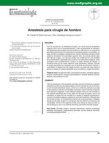 Anestesia para cirugía de hombro - edigraphic.com