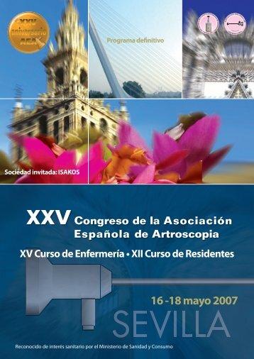 XXV Congreso AEA - Asociación Española de Artroscopia
