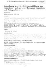 Verordnung über die Berufsausbildung zum Maschinen- und - ADK