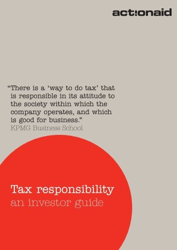 Tax responsibility an investor guide