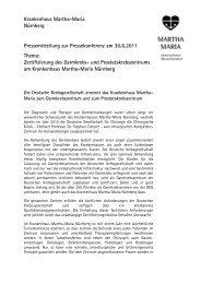 Presseinformation als PDF-Download - Martha-Maria