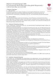 Allgemeine Vertragsbedingungen (AVB) für die ... - Martha-Maria