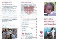 Zehn Jahre Partnerschaft mit Mosambik - Martha-Maria
