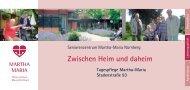 Flyer Tagespflege - Martha-Maria
