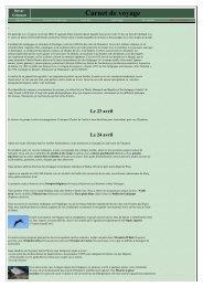 7 pages. Itinéraire détaillé. Photos. - LPO
