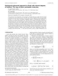 Orthogonal polynomial approach to fluids with internal degrees of ...