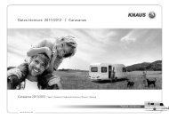 Datos técnicos 2011/2012 | Caravanas - M3