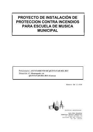 Proyecto Contra Incendios - Quintanar del Rey