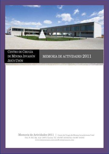 MEMORIA DE ACTIVIDADES 2011 - Centro de Cirugía de Mínima ...