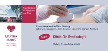 Klinik für Gynäkologie (Stand 11/2011 - 729 KB) - <b>Martha-Maria</b> - klinik-fur-gynakologie-stand-11-2011-729-kb-martha-maria
