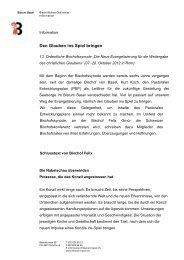 Schlusstext von Bischof Felix - Katholische Kirche (Schweiz)