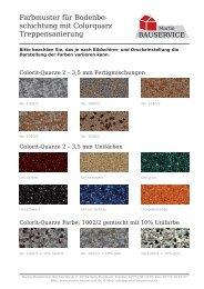 Farbmuster für Bodenbe- schichtung mit ... - Martin Bauservice
