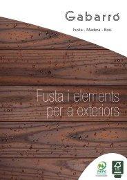 Catàleg 2013 Fusta i elements per a exteriors