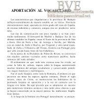 APORTACIÓN AL VOCABULARIO - Paseo Virtual por Extremadura