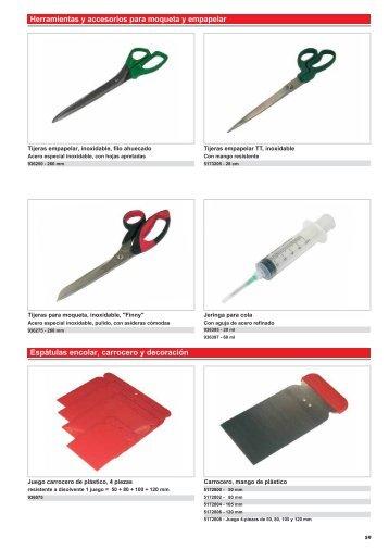 Herramientas y accesorios para moqueta y empapelar Espátulas ...