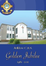 Download Jubilee Book Here - Arklow CBS