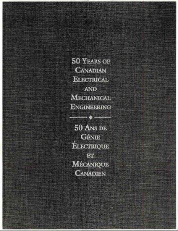 50 ans du génie électrique et mécanique canadien