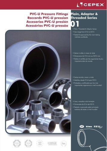 Accesorios PVC-U presión Cepex - Poolaria
