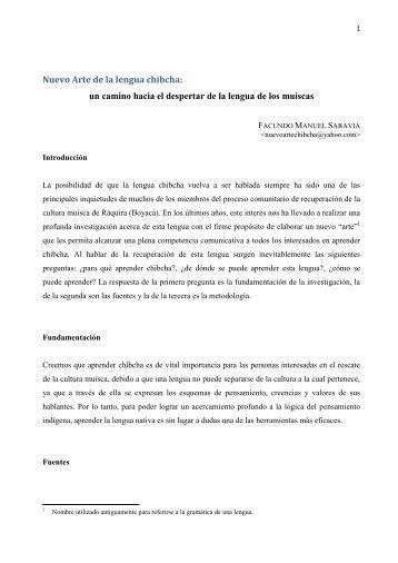 Nuevo arte chibcha.pdf - Portal de Lenguas de Colombia