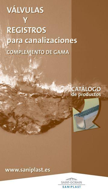 VÁLVULAS Y REGISTROS para canalizaciones