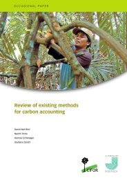 Review of existing methods for carbon accounting - CIFOR