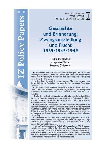 IZ P olicy P apers - instytut zachodni w poznaniu - Poznań