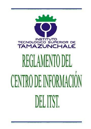 reglamento - Instituto Tecnológico Superior de Tamazunchale