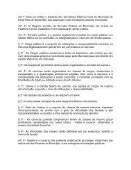Estatuto dos Servidores Públicos Civis do Município de Entre Rios ...