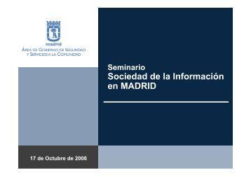 12:30 Iniciativas en el Ayuntamiento de Madrid - Sociedad de la ...