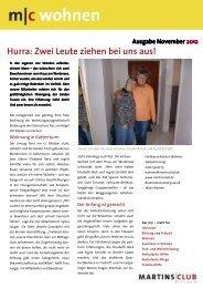 c Newsletter Wohnen November 2012 - Martinsclub Bremen e.V.