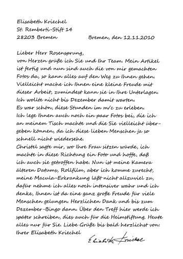 Brief über die Bingo-Show - Martinsclub Bremen e.V.