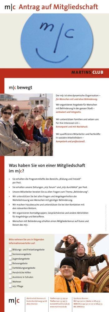 Mitgliedsantrag als PDF - Martinsclub Bremen e.V.