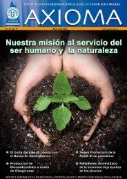 Revista Axioma 2010 - Pontificia Universidad Católica del Ecuador ...