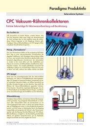CPC Vakuum-Röhrenkollektoren - ad fontes