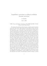 Logarithmic corrections to scaling in turbulent thermal convection