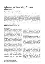Reiterated tension testing of silicone elastomer - TU Ilmenau