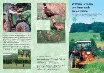 Wildtiere schonen - von innen nach außen mähen!