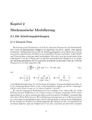 Kapitel 2 Mathematische Modellierung - bei DuEPublico