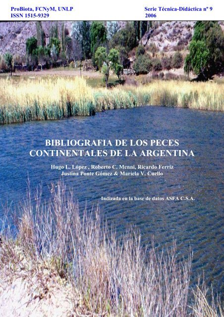 bibliografia argentina de peces de agua dulce - Aquatic Commons