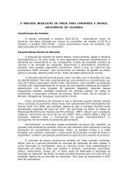 o mercado brasileiro de pneus para caminhões e ... - BrasilGlobalNet