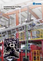 Installations de recyclage de pneus usagés - Amandus Kahl