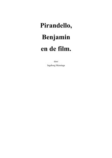 Pirandello, Benjamin en de film.