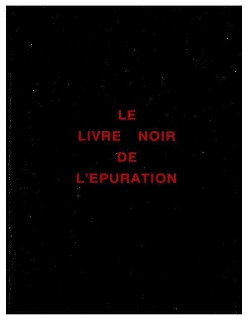 Le Livre Noir de l'épuration
