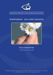 Arbeiðsrit 18, 2008: Nærverkið - ein góð tænasta