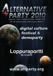 Loppuraportti - Kaverit.org