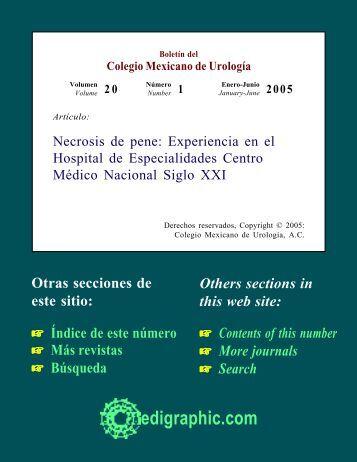 Necrosis de pene: Experiencia en el Hospital de ... - edigraphic.com